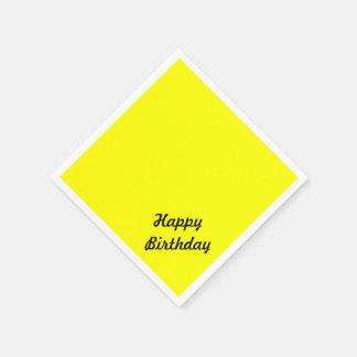 Texte fait sur commande jaune au néon fluorescent serviette en papier