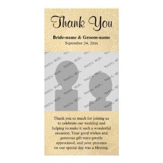 Texte fait sur commande noir sur le mariage d'abré carte avec photo