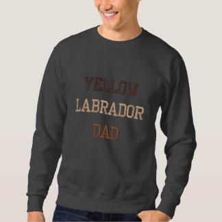 Texte jaune de papa de Labrador Sweat-shirt Brodé