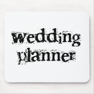 Texte noir de wedding planner tapis de souris