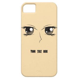 Texte personnalisable de cas de téléphone de yeux coque iPhone 5 Case-Mate