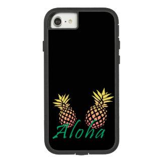 "texte tropical d'été ""aloha"", ananas coloré coque Case-Mate tough extreme iPhone 7"