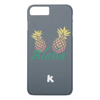 """texte tropical d'été """"aloha"""", ananas coloré coque iPhone 7 plus"""