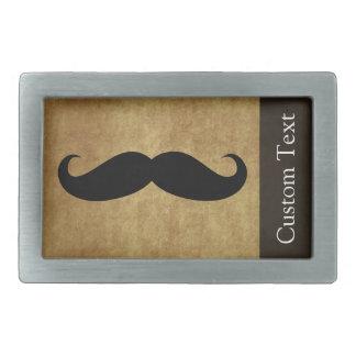 Texte vintage de la moustache w/Custom Boucles De Ceinture Rectangulaires