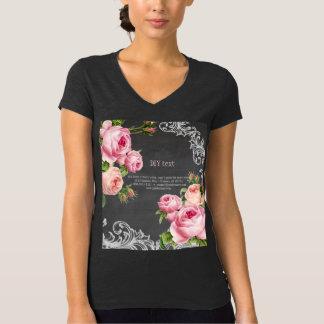 Texte vintage du tableau Roses/DIY de PixDezines T-shirt