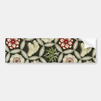 Textile japonais de KIMONO, motif floral Autocollant Pour Voiture