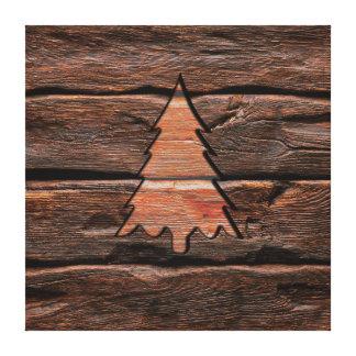Texture à feuillage persistant gravée par bois toile
