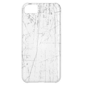 Texture âgée et portée de blanc rayé coques iPhone 5C