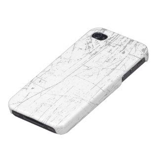 Texture âgée et portée de blanc rayé étui iPhone 4