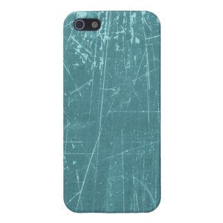 Texture âgée et portée de bleu rayé étuis iPhone 5