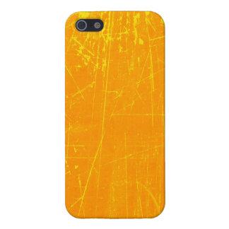 Texture âgée et portée de jaune rayé étuis iPhone 5
