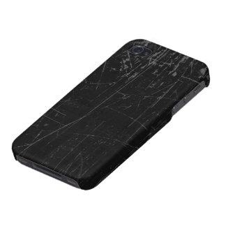 Texture âgée et portée de noir rayé étui iPhone 4