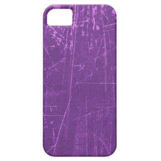 Texture âgée et portée de pourpre rayé iPhone 5 case