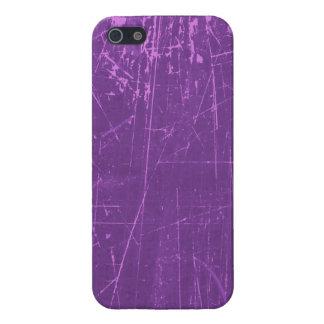 Texture âgée et portée de pourpre rayé étuis iPhone 5