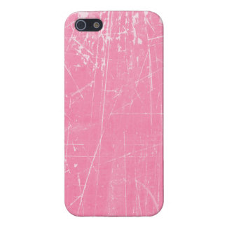 Texture âgée et portée de rose rayé coque iPhone 5
