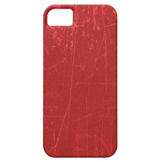 Texture âgée et portée de rouge rayé coques iPhone 5 Case-Mate