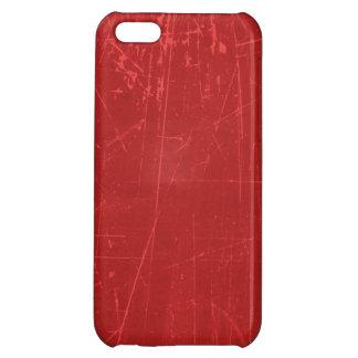 Texture âgée et portée de rouge rayé coque iPhone 5C