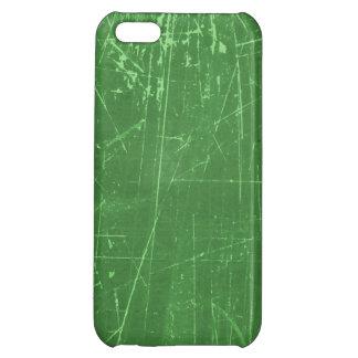 Texture âgée et portée de vert rayé étuis iPhone 5C