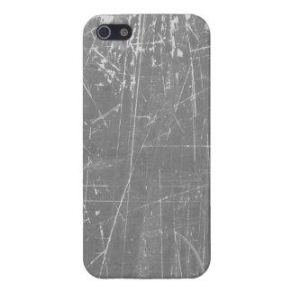 Texture âgée et portée gris-clair rayé étui iPhone 5