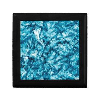 texture approximative bleue petite boîte à bijoux carrée