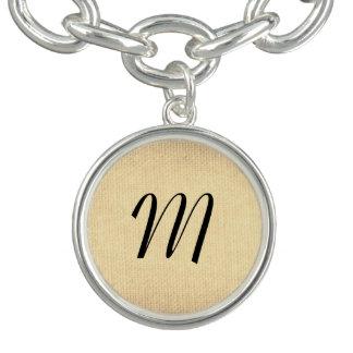 Texture avec le monogramme bracelet