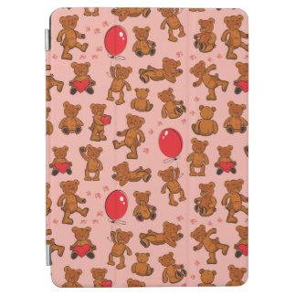 Texture avec le nounours, coeurs protection iPad air