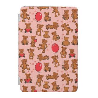 Texture avec le nounours, coeurs protection iPad mini