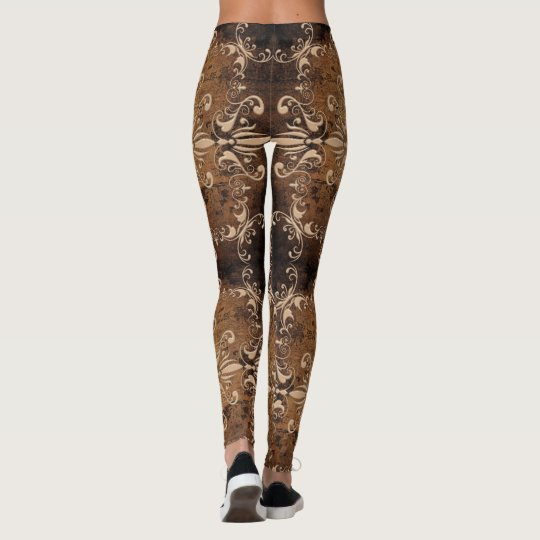texture baroque de grange leggings