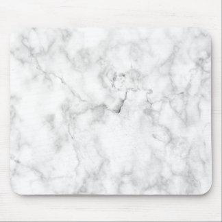 Texture blanche et grise de marbre de faux tapis de souris