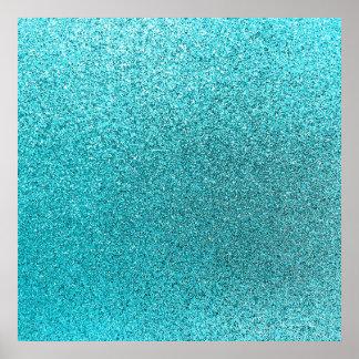 Texture bleue turquoise d'étincelle d'arrière - poster