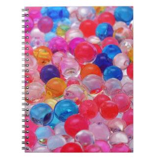 texture colorée de boules de gelée carnets à spirale