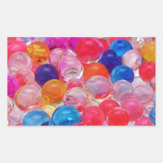 texture colorée de boules de gelée sticker rectangulaire