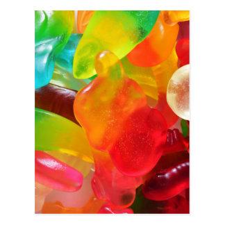 texture colorée de gomme de gelée carte postale