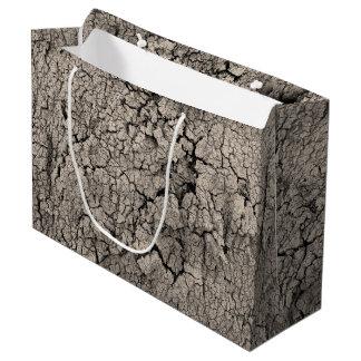 Texture criquée de cool de saleté de la terre grand sac cadeau