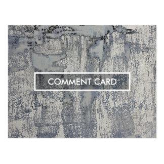 texture croustillante de carte de commentaire