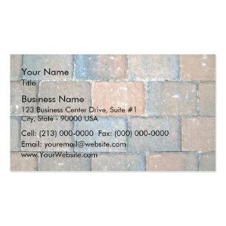 Texture d'arrière - plan d'un trottoir de brique carte de visite