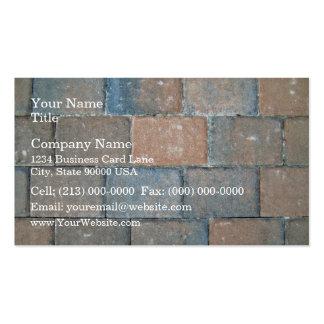 Texture d'arrière - plan d'un trottoir de brique modèle de carte de visite