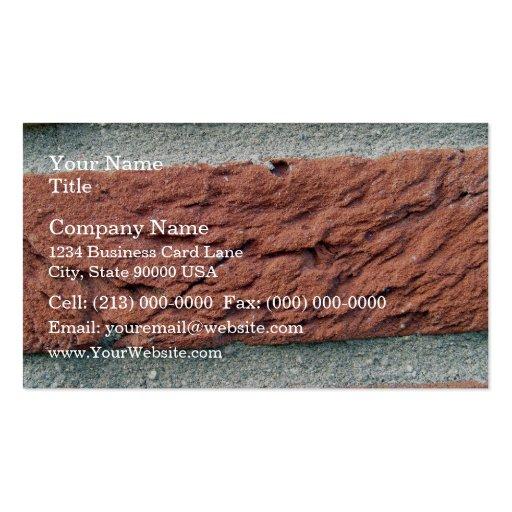 Texture de brique rouge modèles de cartes de visite