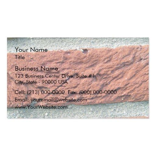 Texture de brique rouge modèle de carte de visite