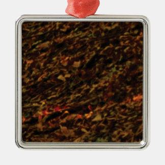 texture de brun foncé de terre ornement carré argenté