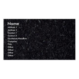Texture de charbon carte de visite standard