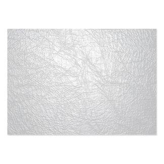 texture de cuir blanc carte de visite grand format