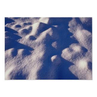 Texture de dérive de neige carton d'invitation  12,7 cm x 17,78 cm