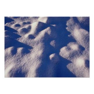 Texture de dérive de neige faire-part personnalisés