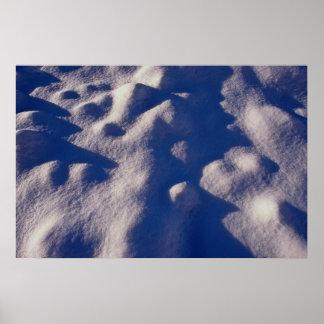 Texture de dérive de neige affiches