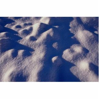 Texture de dérive de neige découpage en acrylique