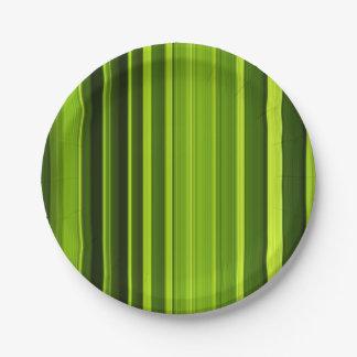 Texture de feuille de palmier assiettes en papier