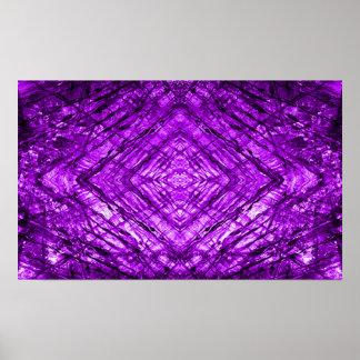 Texture de kaléidoscope en verre souillé de poster