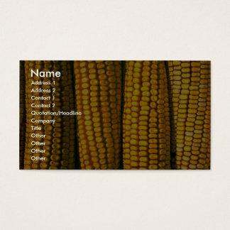 Texture de maïs cartes de visite