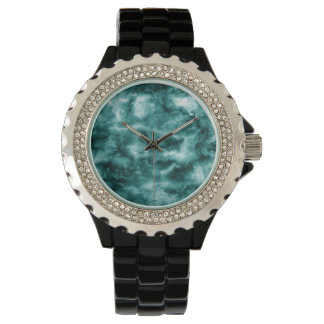 Texture de marbre vert-foncé montres